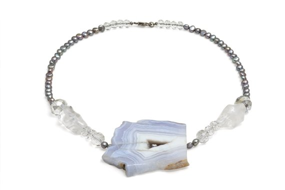 Rio Chalcedony Pearl Necklace