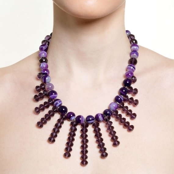 Vevey Purple Spike Necklace