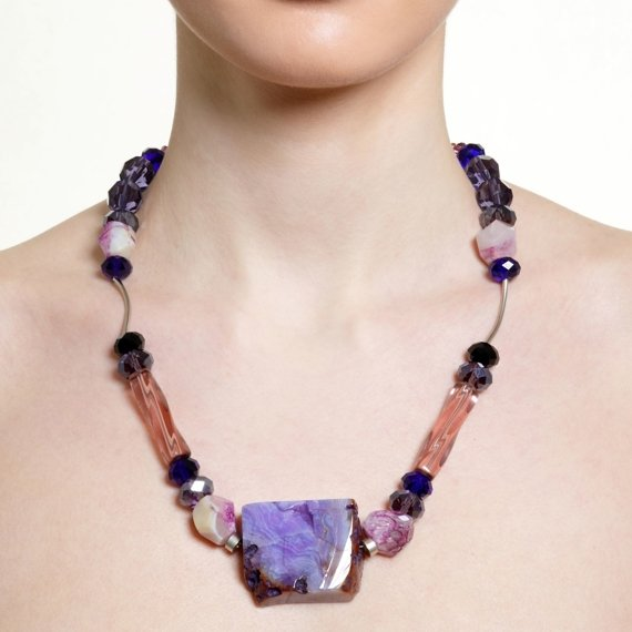 Vevey Purple Subtlety Necklace